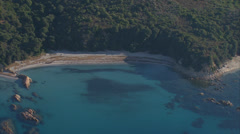 Aerial corsica beach creek Stock Footage