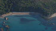 Stock Video Footage of aerial corsica beach creek