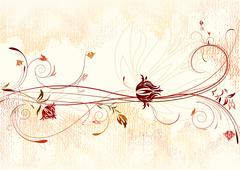 Floral background. - stock illustration