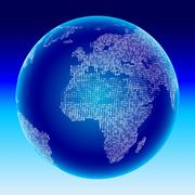 Digital globe. Africa, Europe. - stock illustration