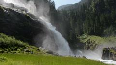 People visiting the Krimml Waterfalls (Austria) Stock Footage