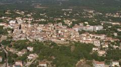 Aerial corsica porto vecchio city sea harbor Stock Footage