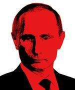 Vladimir putin president of russian federation pop art Piirros
