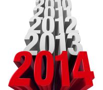 Stock Illustration of 2014 is now