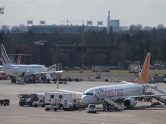 Pegasus airlines tc-cpc boeing 737-82r jet airplane on dusseldorf airport apr Stock Footage
