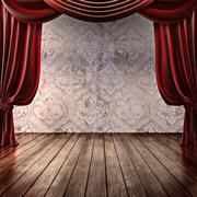 Stock Illustration of Theater Grunge Background