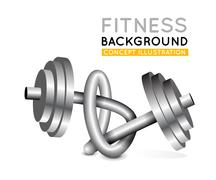 weights twisted in a knot. - stock illustration