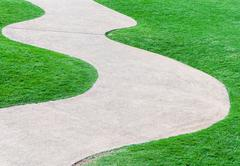 curve pathway - stock photo
