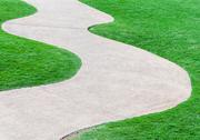 Stock Photo of curve pathway