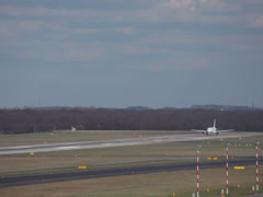 Air france f-guga jet airplane airbus a318-111 taking off  dusseldorf airport Stock Footage