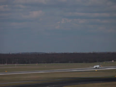 Eurowings canadair crj-900 jet airplane d-acng taking off dusseldorf airport Stock Footage