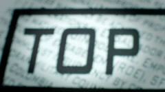 Closeup of Top Secret Stamp. Stock Footage
