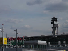 Dusseldorf airport radar and control tower Stock Footage