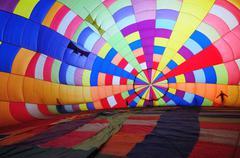 hot air balloon, inside - stock photo