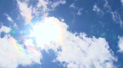 Sunny Blue Sky with Clouds Timelapse Stock Footage
