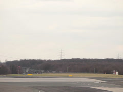 Tuifly airlines jet airplane landing  dusseldorf airport. Stock Footage