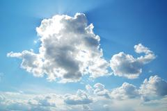 sunny clouds - stock photo