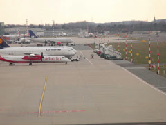 Eurowings airlines canadair crj-900 jet airplane d-acnx taxiing dusseldorf ai Stock Footage