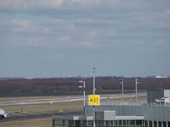 Eurowings canadair crj-900 jet airplane d-acna landing dusseldorf airport. Stock Footage
