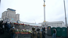 Euromaidan meeting in Kiev, Ukraine. Stock Footage