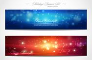 Stock Illustration of winter holidays web banner set | editable eps 10 vector illustration