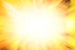 Sunburst Yellow Refracted Stock Footage