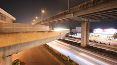 Motorway traffic driving time lapse Stock Footage