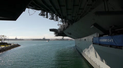 USS Midway Museum -Side View- Stock Footage
