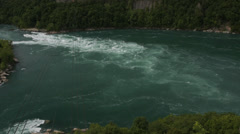 Timelapse of the Aero car attraction and the Whirlpool Rapids, Niagara Falls Stock Footage
