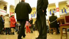 People inside Kiev State City Administration, Euro maidan, Kiev, Ukraine. Stock Footage