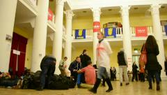 Protesters inside Kiev State City Administration, Euro maidan, Kiev, Ukraine. Stock Footage