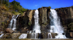 Pongour Falls waterfall in Dalat Vietnam. Scenic mountain river landscape 4K Stock Footage