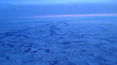 Aerial Shot of Midwestern Winter Stock Footage