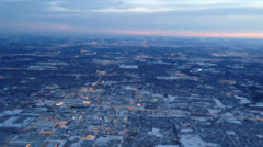 A Midwest Winter from an Airplane - stock footage