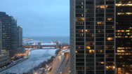 Stock Video Footage of Chicago Buildings in Winter