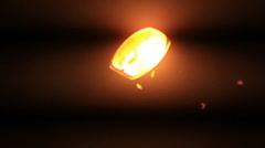 Flickering lantern Stock Footage