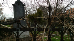 Old haunted cemetery 4k Stock Footage