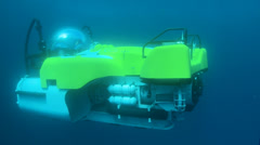 Deep Sea submarine underwater shot - Cocos island. THREE CLIP IN ONE! Stock Footage