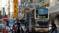 Hong Kong Yau Ma Tei Shanghai street China Asia Stock Footage