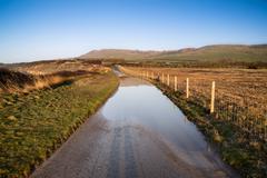 maisemakuva tulva maan lane tilan - stock photo