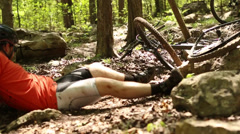Mountain bike wreck Stock Footage
