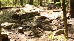 Wwalking mountain bike uphill Stock Footage