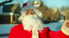 Santa laugh laughing Stock Footage