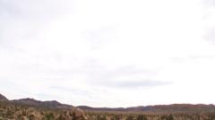 Joshua Tree National Park Landscape Sweeping Pan Shot Stock Footage