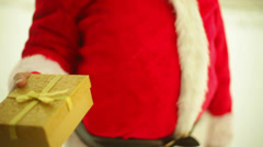 santa with gift authentic - stock footage