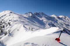 Avalanche shovel Stock Photos