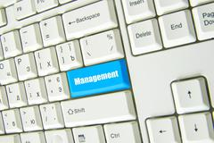 button of management - stock photo
