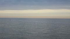 Water jet skies at north sea Stock Footage