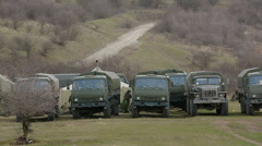Military vehicles. Editorial - stock footage