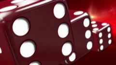Red Casino Dice Red Background - stock footage